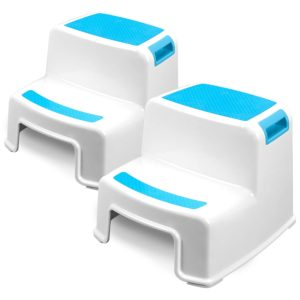 7. Two Step Kids Step Stools - 2 Pack, Blue