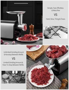 8. AICOK Electric Meat Grinder, 3-IN-1 Meat Mincer & Sausage Stuffer