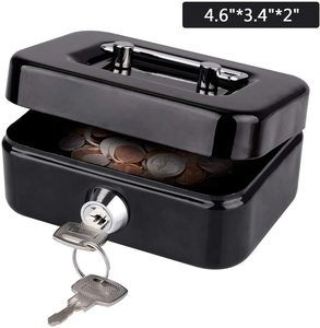 8. LeHatori Small Money Safe Key Lock Box