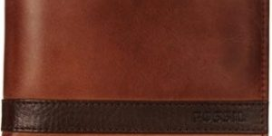 #8. Men's Quinn Leather Large Coin Fossil Wallet