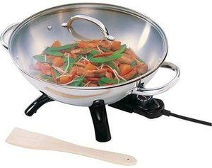 8. Supernon Presto Stainless Steel Electric Wok