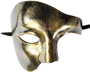 9. Coolwife Masquerade Mask, One Eyed Half Face Costume
