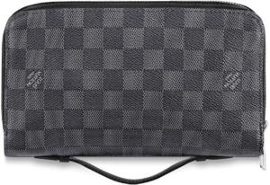 #9. Louis Vuitton Zippy XL Wallet Damier Graphite Canvas N41503