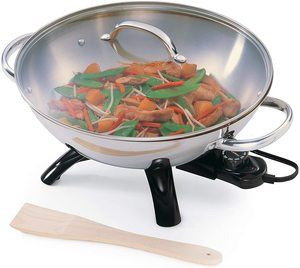 9. Presto 5900 1500-Watt Stainless-Steel Electric Wok