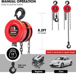 1. BIG RED TR9010 Torin Manual Chain Block Hoist