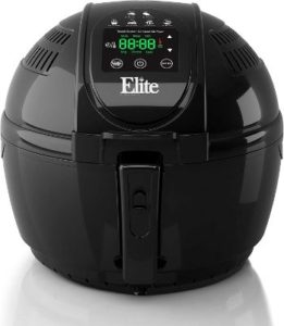 #1. Elite Platinum EAF-1506D Digital Hot Air Fryer, 3.5 Quart