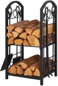 #1. Patio Watcher Firewood Log Rack for Indoor Outdoor