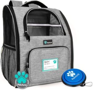 #1. PetAmi Deluxe Pet Carrier Backpack