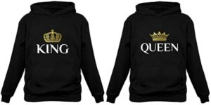 #10 King & Queen Matching Couple Hoodie Set His