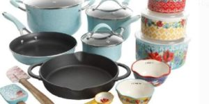 #10. The Pioneer Woman Speckled Cookware 24Pc