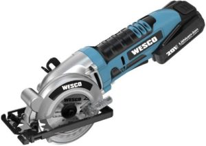 #10. WESCO Mini Circular Saw