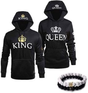 #2 YJQ King Queen Matching Couple Hoodies