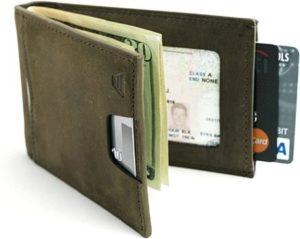 2. Andar Leather Slim RFID Blocking Minimalist Bifold Wallet