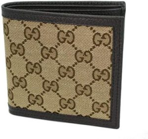 2. Gucci Men's Beige GG Canvas Bi-fold Wallet