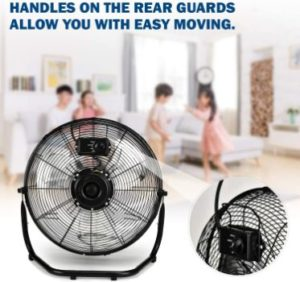 2. Simple Deluxe 20 Inch 3-Speed High-Velocity Industrial Floor Fans