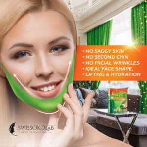 3. Double Chin Reducer V-Shaped Slimming Face Mask, 5 pcs