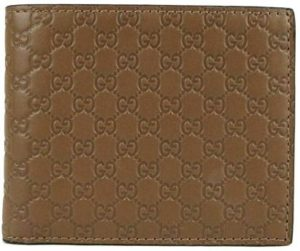 3. Gucci Men's Brown Microguccissima Leather