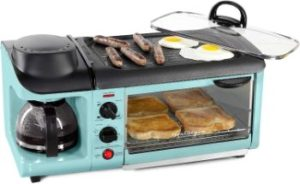 #3. Nostalgia Retro 3-in-1 Electric Breakfast Station