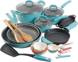 #3. The Pioneer Woman Vintage Speckle Cookware [24 Piece]