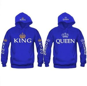 #4 Durcoo Couple King and Queen Hoodies Pullover