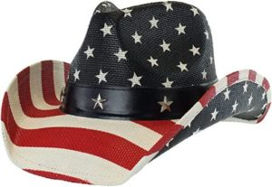 #4 Men's Western Style Shapeable American Flag