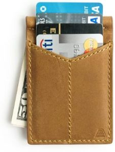 4. Andar Mens Leather Money Clip, Front Pocket Minimalist Card Holder