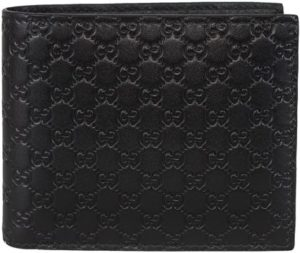 4. Gucci Men's Leather Micro GG Guccissima Bifold