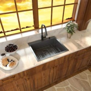 #4. Sarlai 33 Inch Drop In - Topmount Kitchen Sink Stainless Steel