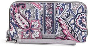4. Vera Bradley Women's Signature Cotton Accordion Wristlet