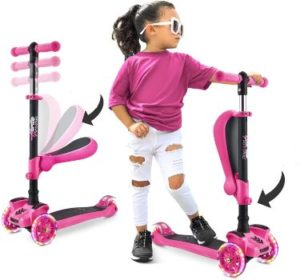 #5 Hurtle 3-Wheeled Scooter for Kids Lean-to-Steer Handlebar