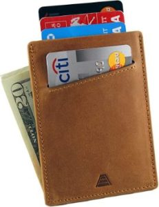 6. Andar Minimalist Front Pocket Leather Wallet
