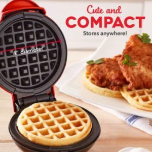 #6. Dash Mini Waffle Maker for, Paninis, Hash browns
