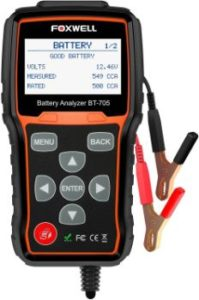 #6. FOXWELL BT705 Car Battery Tester