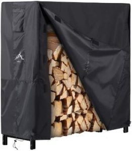 #6.Himal Log Rack Waterproof Firewood Cover 4FT Wood Rack….