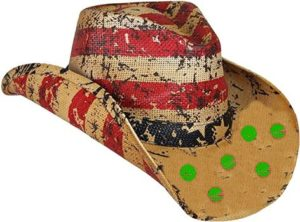 #7 American Tea Stained Cowboy Hat, Cowboy Hat