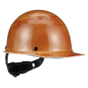 #7 MSA Tan Cap Style Hard Hat With Ratchet4 Point Ratchet Suspension
