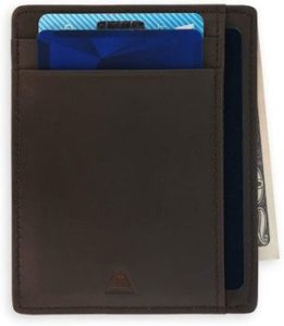7. Andar Leather Slim Wallet, Minimalist Front Pocket