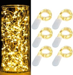 #7. BUTTON LAMP LEDs Light –Strong Adhesive - Lightweight