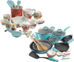 #7. The Pioneer Woman Vintage Speckle 24-Piece Cookware
