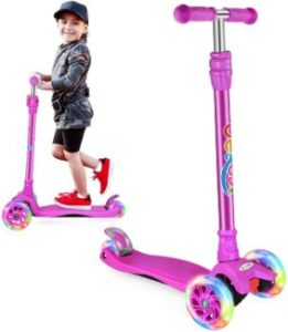 #8 BELEEV Scooters for Kids 3 Wheel Kick Scooter for kids