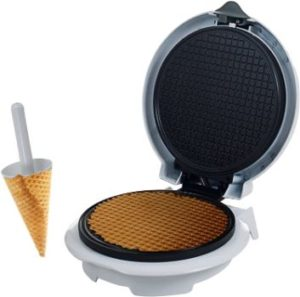 #8. Chef Buddy 82-MM1234 White waffle cone maker
