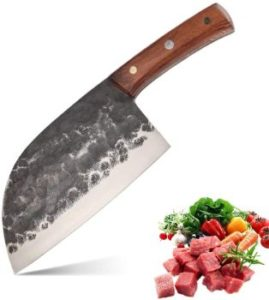 #8. DENGJIA Stainless Steel Blade Forged Chef Knife