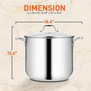 #8. NutriChef Stainless Steel Cookware Stockpot