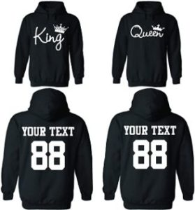 #9 Custom Couple Hoodies, Customized