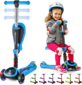 #9 SKIDEE Scooter for Kids with Foldable–USA Brand 3 Wheels