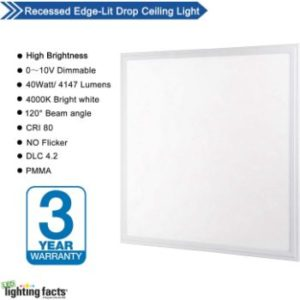 #9. Allsmartlife 2x2FT LED Panel Light 4000K Bright White