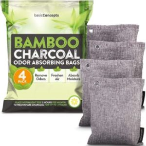 #9. Bamboo Air Purifying Charcoal Bags Odor Absorber for Car
