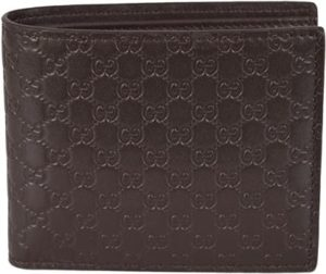 9. Gucci Men's Leather Micro GG Guccissima Bifold Wallet