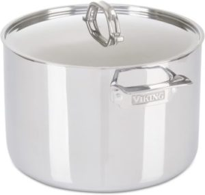 #9. Viking 3-Ply Stainless Steel Stock Pot