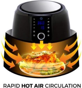 #9.Simple Living Products Digital Air Fryer, XL, 8 Custom Presets